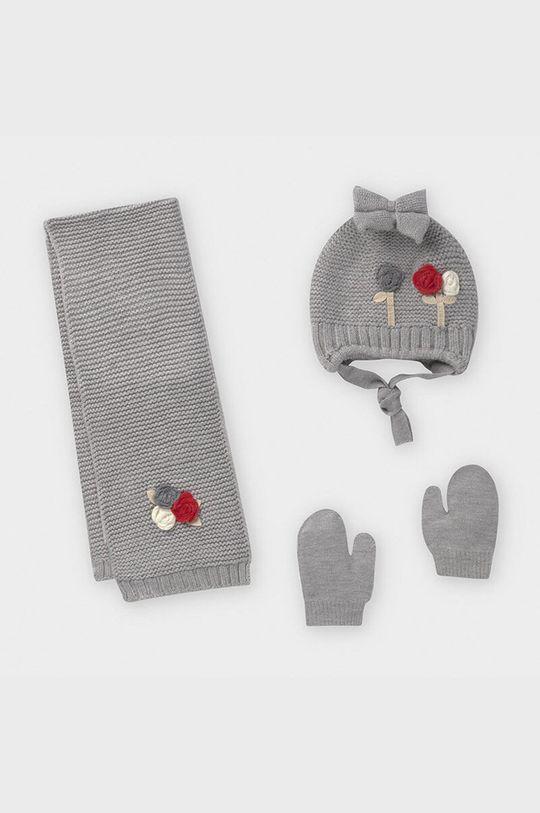 strieborná Mayoral - Čiapka, šál a rukavice Dievčenský