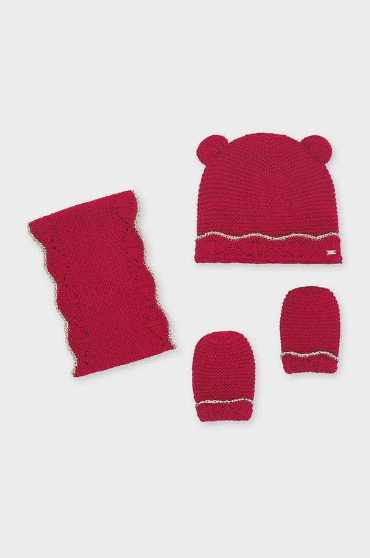 červená Mayoral - Čepice, nákrčník a dětské rukavice 80-92 cm Dívčí
