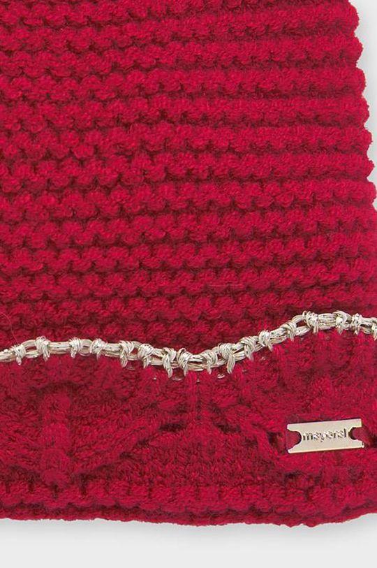 Mayoral - Čepice, nákrčník a dětské rukavice 80-92 cm červená