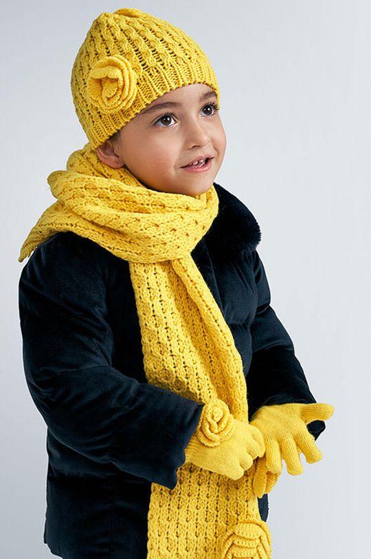jasny żółty Mayoral - Czapka, komin i rękawiczki dziecięce Dziewczęcy