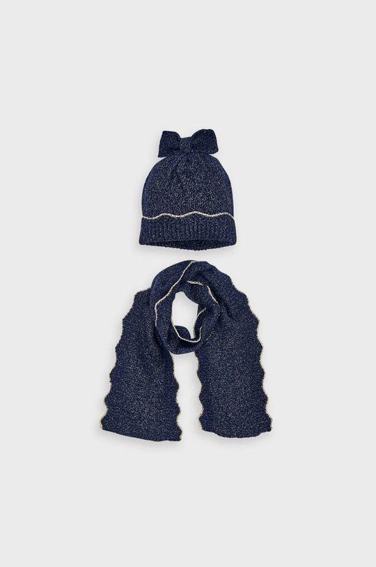 tmavomodrá Mayoral - Detská čiapka a šál Dievčenský