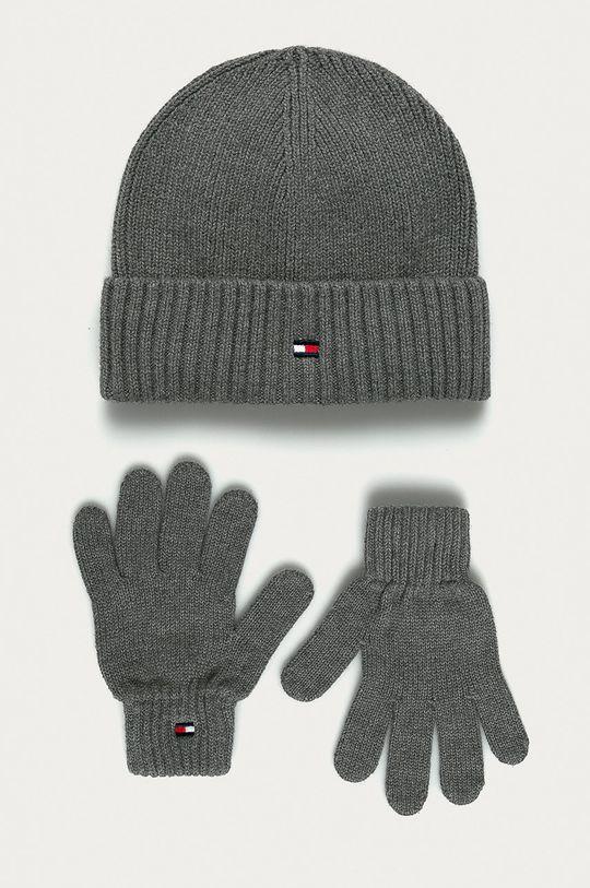 šedá Tommy Hilfiger - Čepice a dětské rukavice Dětský
