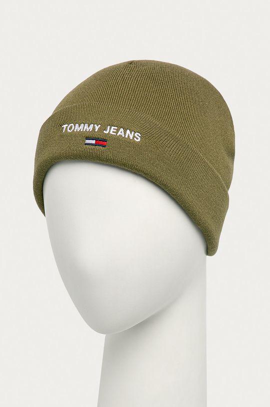 Tommy Jeans - Čepice olivová