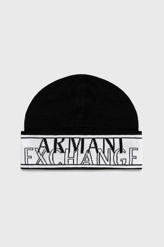 czarny Armani Exchange - Czapka Męski