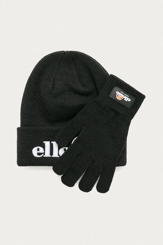 czarny Ellesse - Czapka i rękawiczki Unisex
