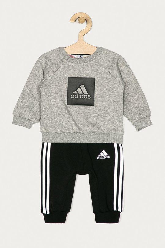sivá adidas Performance - Detská športová súprava 62-104 cm Chlapčenský