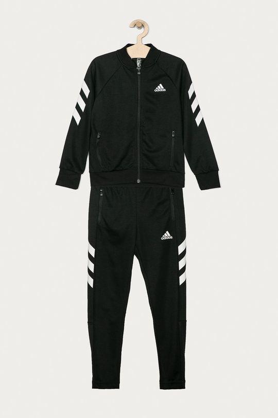 čierna adidas Performance - Detská tepláková súprava 128-176 cm Chlapčenský