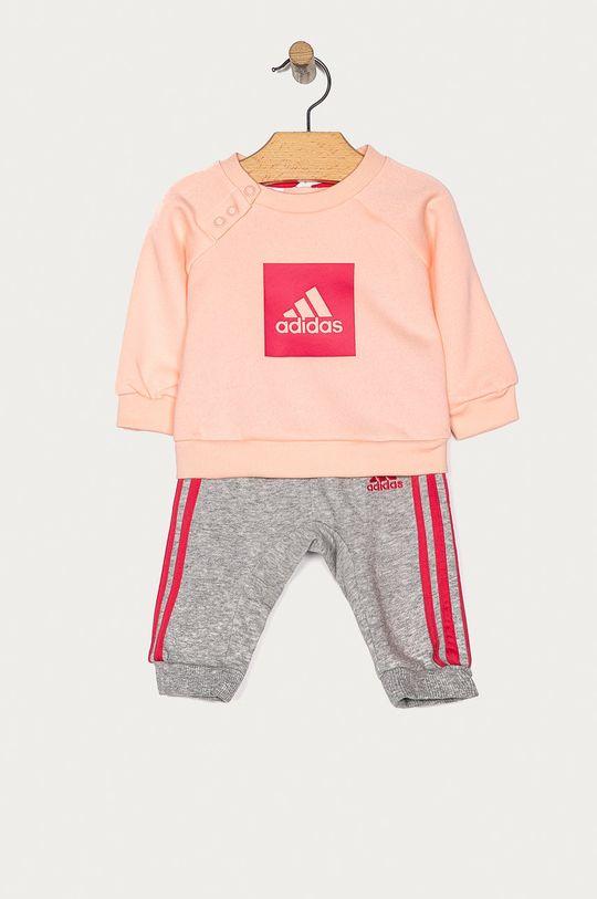 ružová adidas Performance - Detská tepláková súprava 62-104 cm Dievčenský