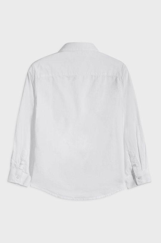 Mayoral - Camasa de bumbac pentru copii 128-172 cm alb
