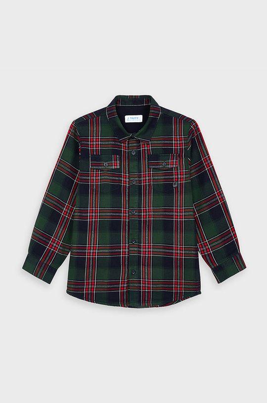 Mayoral - Detská košeľa 104-134 cm tmavozelená