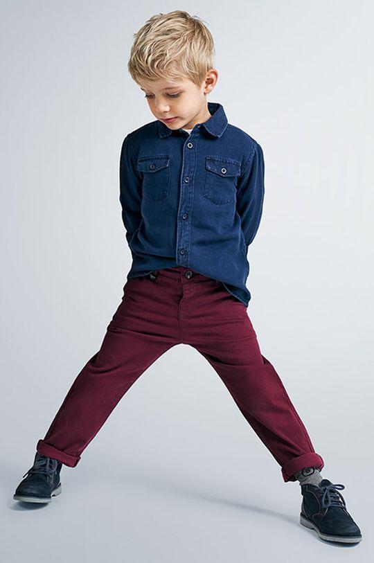 albastru Mayoral - Camasa de bumbac pentru copii 92-134 cm De băieți
