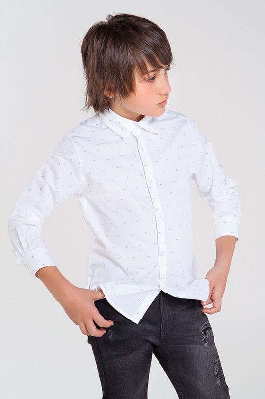 biela Mayoral - Detská bavlnená košeľa 128-172 cm Chlapčenský