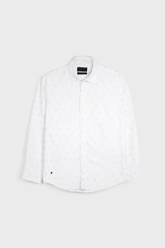 Mayoral - Detská bavlnená košeľa 128-172 cm biela