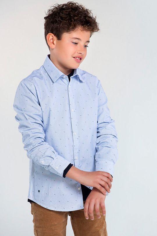 jasny niebieski Mayoral - Koszula bawełniana dziecięca 128-172 cm Chłopięcy