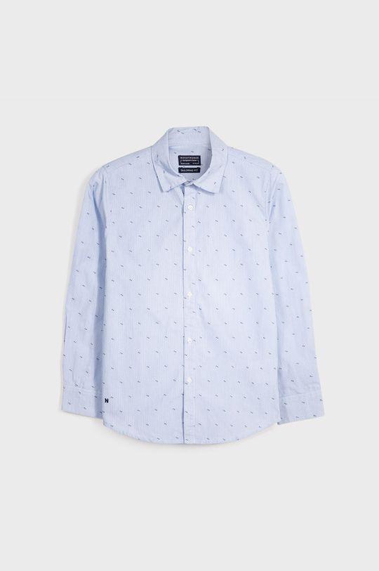 Mayoral - Koszula bawełniana dziecięca 128-172 cm jasny niebieski