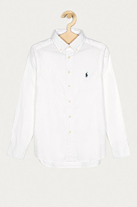 biały Polo Ralph Lauren - Koszula bawełniana dziecięca 134-176 cm Chłopięcy