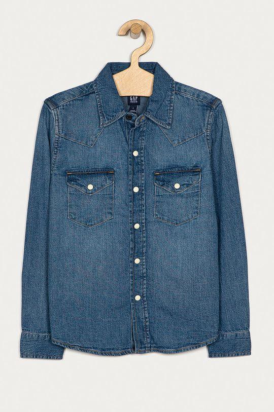 modrá GAP - Detská bavlnená košeľa 104-176 cm Chlapčenský