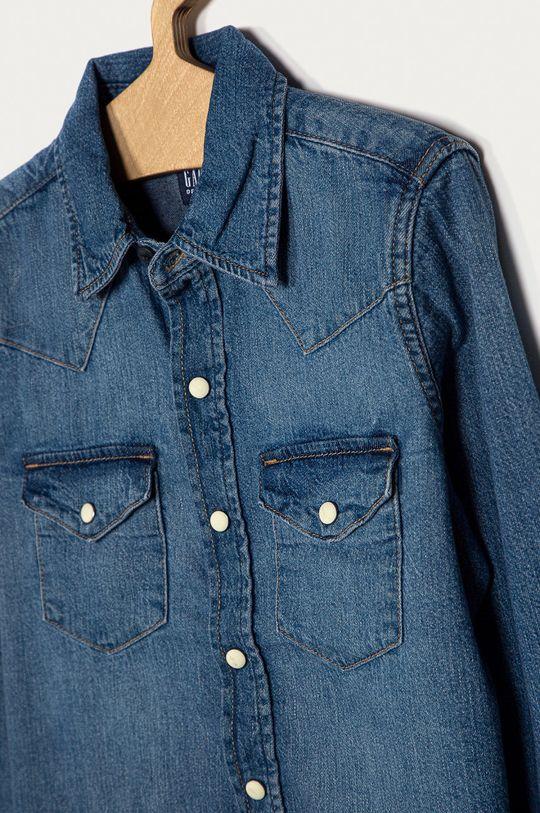 GAP - Detská bavlnená košeľa 104-176 cm modrá