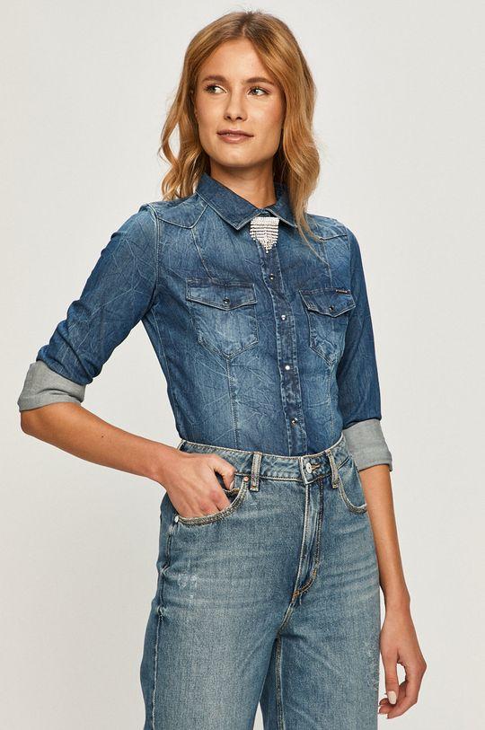 albastru Guess Jeans - Camasa jeans De femei