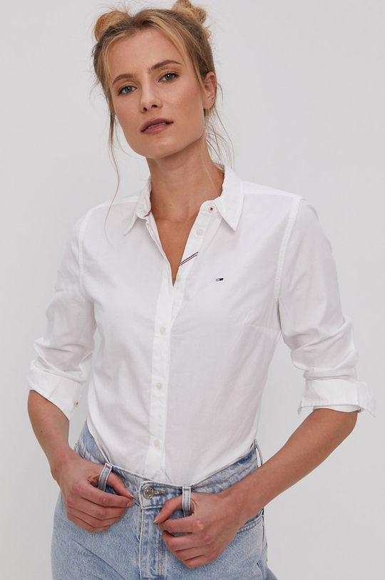 biały Tommy Jeans - Koszula bawełniana Damski