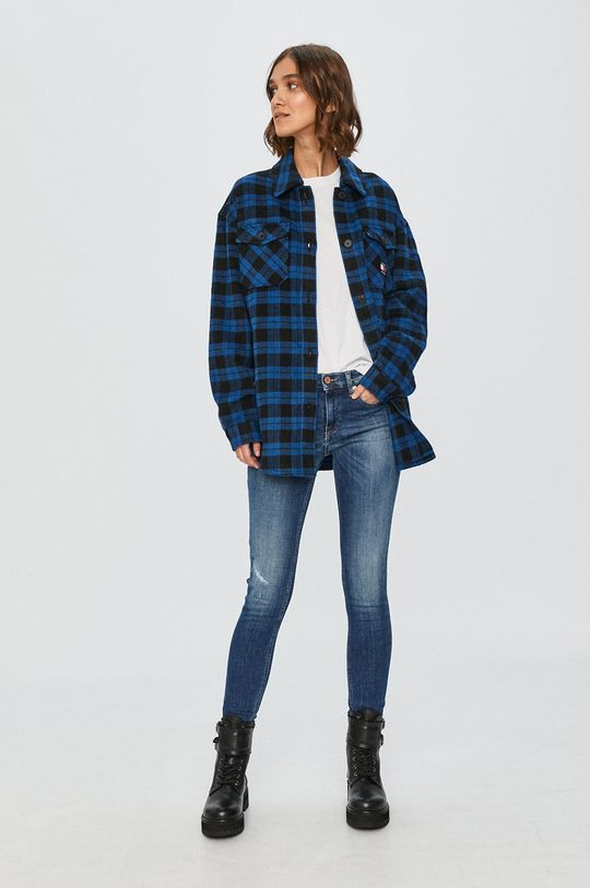 Tommy Jeans - Geaca  32% Acril, 1% Bumbac, 4% Poliamida, 51% Poliester , 11% Lana, 1% Viscoza