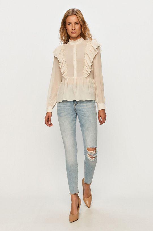 Vero Moda - Koszula kremowy