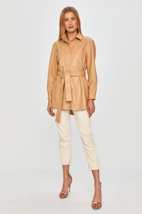 Vero Moda - Koszula kawowy