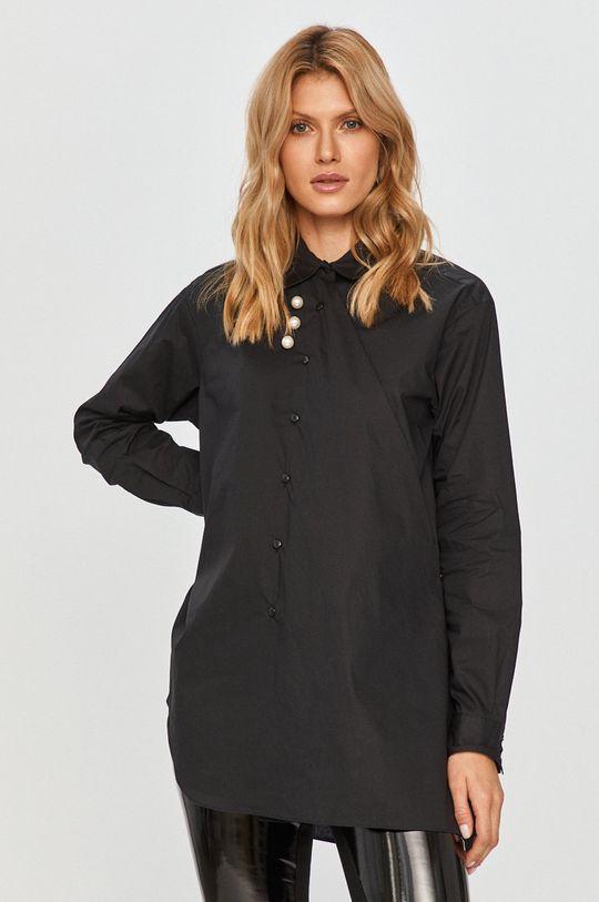 černá Silvian Heach - Bavlněné tričko Dámský