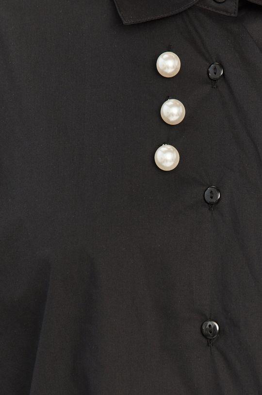 Silvian Heach - Bavlněné tričko černá