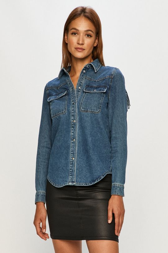 albastru Only - Camasa jeans De femei