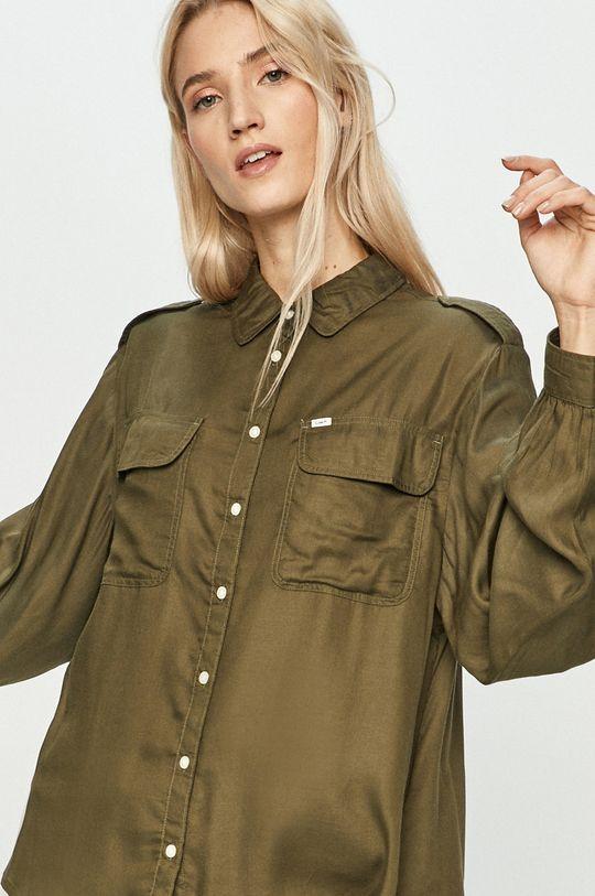 oliwkowy Lee - Koszula