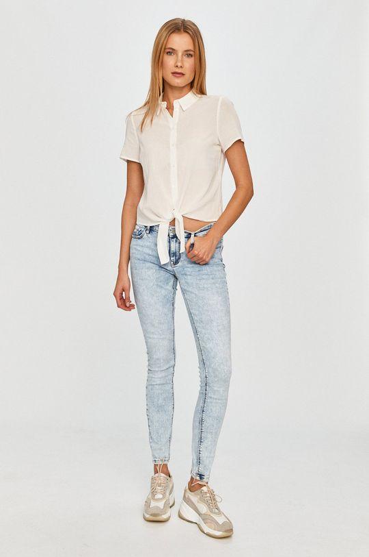 Vero Moda - Koszula bawełniana biały