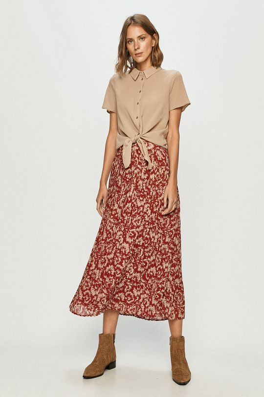 Vero Moda - Koszula bawełniana piaskowy