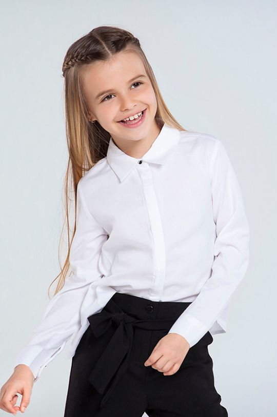 kremowy Mayoral - Koszula bawełniana dziecięca 140-167 cm Dziewczęcy
