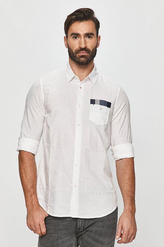 bílá Desigual - Bavlněné tričko Pánský