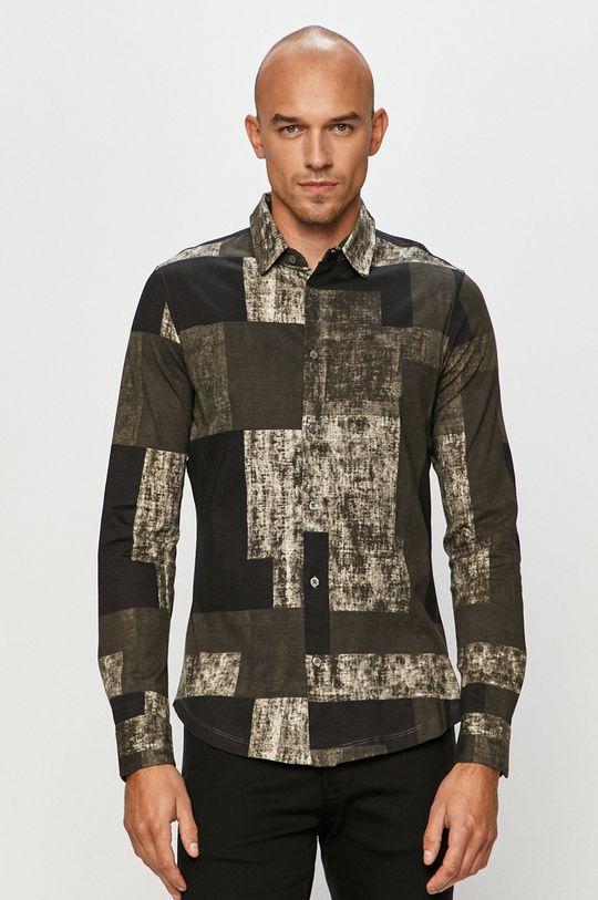 vícebarevná Desigual - Bavlněné tričko Pánský