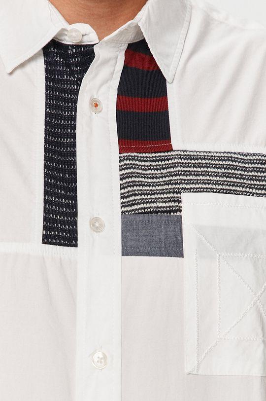 Desigual - Bavlnená košeľa biela