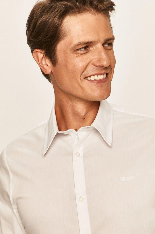 biały Guess Jeans - Koszula Męski