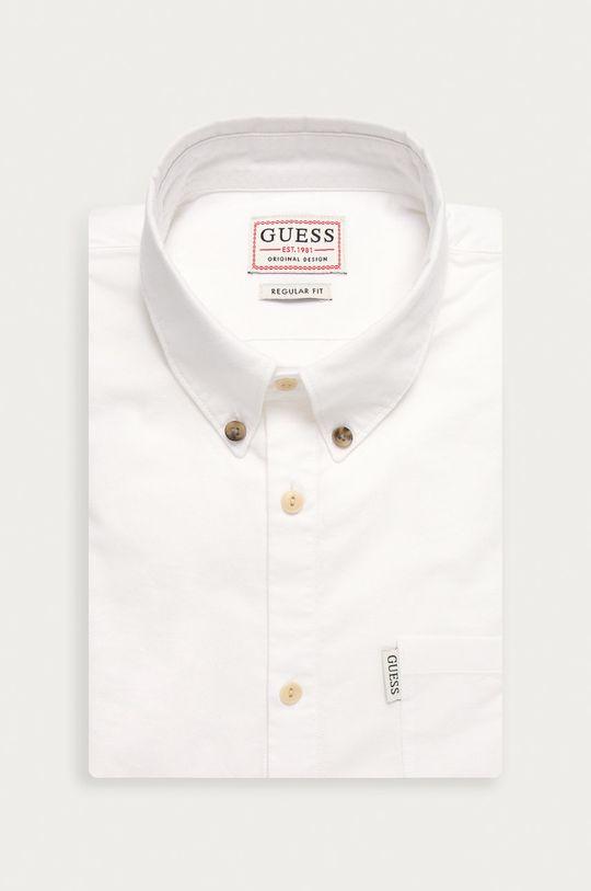 biela Guess Jeans - Košeľa Pánsky