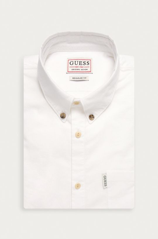 alb Guess Jeans - Camasa De bărbați