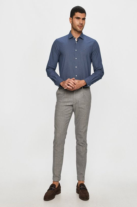 albastru Tommy Hilfiger Tailored - Camasa din bumbac