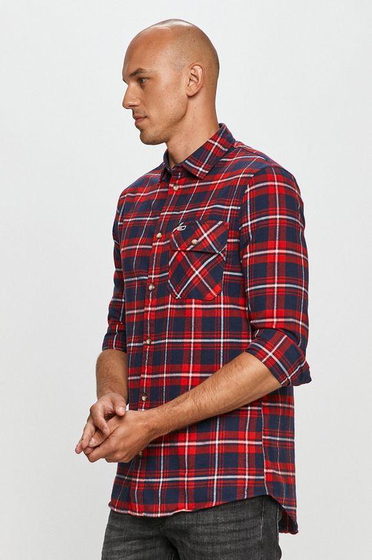 tmavomodrá Tommy Jeans - Bavlnená košeľa Pánsky