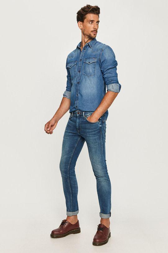 Pepe Jeans - Džínová košile Noah modrá