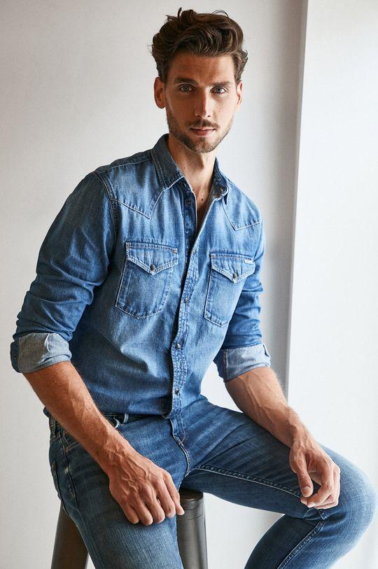 modrá Pepe Jeans - Džínová košile Noah