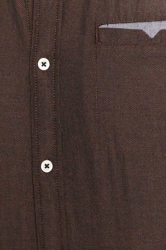 Tom Tailor Denim - Bavlnená košeľa hnedá