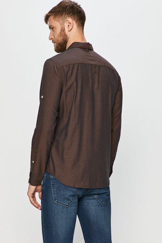 hnedá Tom Tailor Denim - Bavlnená košeľa