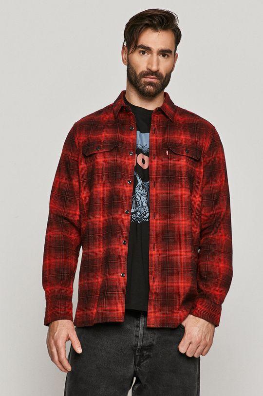 červená Levi's - Bavlněné tričko Pánský