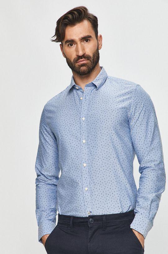 modrá Pepe Jeans - Bavlněné tričko Egleton Pánský