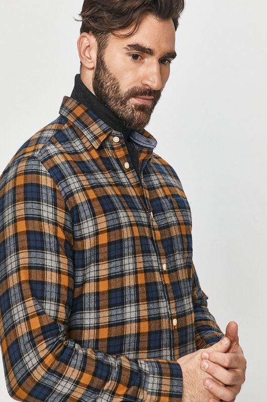 brązowy Pepe Jeans - Koszula bawełniana Telford Męski