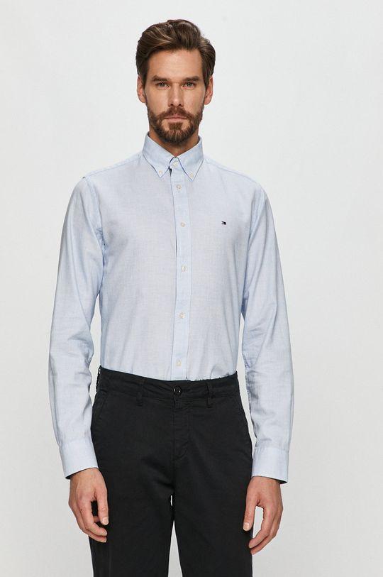blady niebieski Tommy Hilfiger - Koszula bawełniana Męski